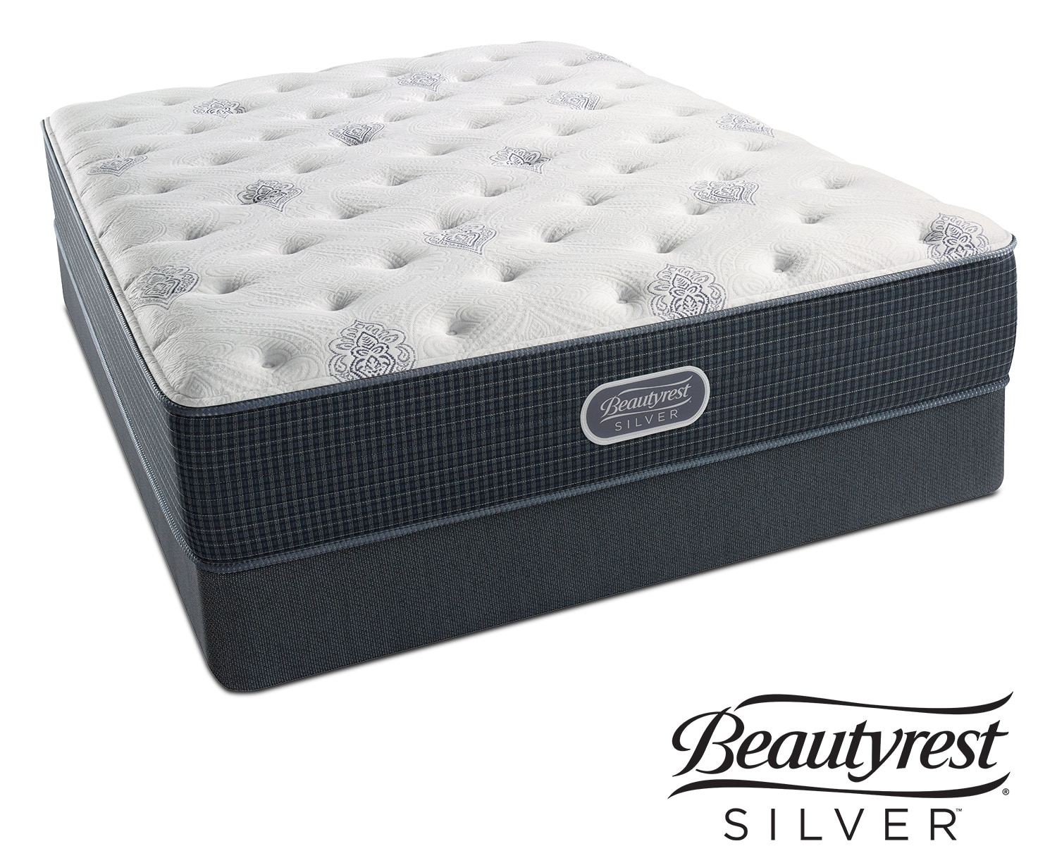 White River Luxury Firm Queen Mattress and Low-Profile Foundation Set