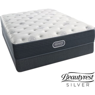 White River Luxury Firm California King Mattress and Split Foundation Set