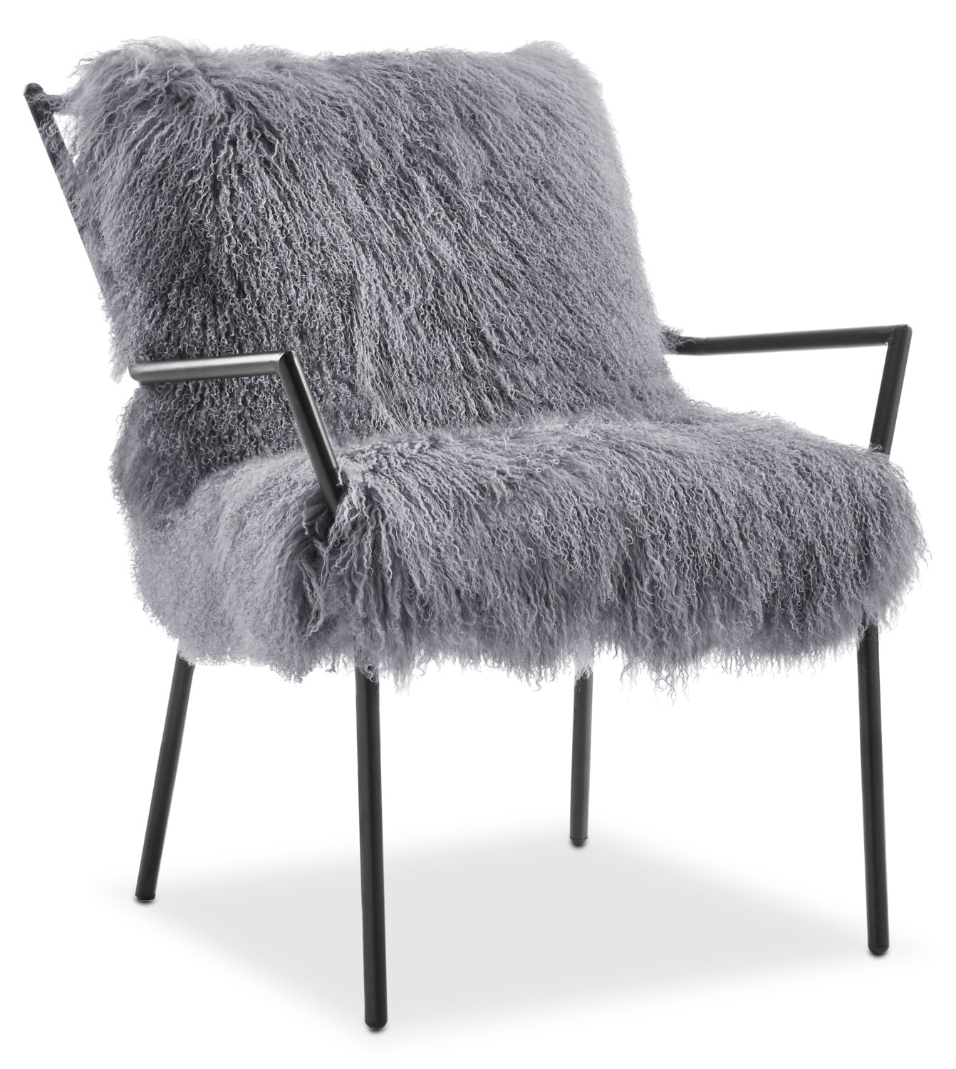 Lara Accent Chair - Black and Gray