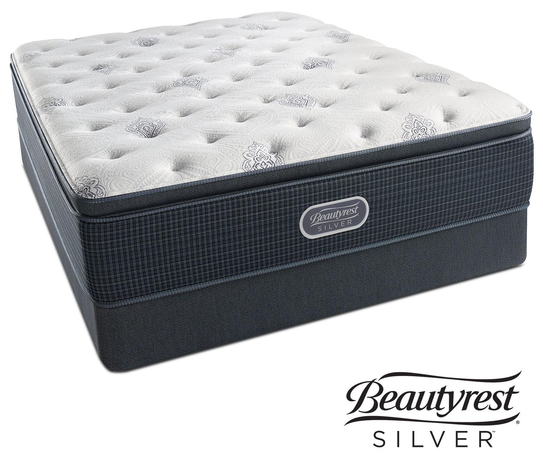 White river plush pillowtop king mattress and split low for Mattress sets
