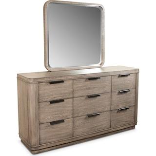 Malibu Dresser and Mirror