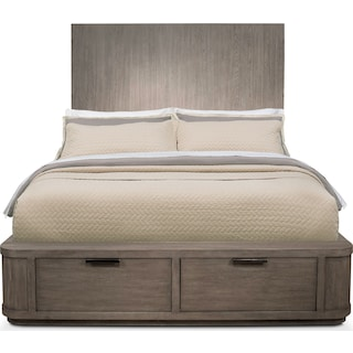 Malibu King Tall Storage Bed - Gray