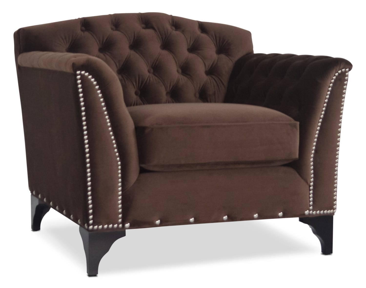 Accent and Occasional Furniture - Priscilla Accent Chair - Brown
