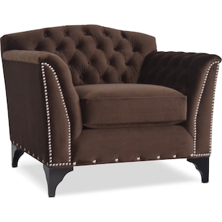 Priscilla Accent Chair - Brown