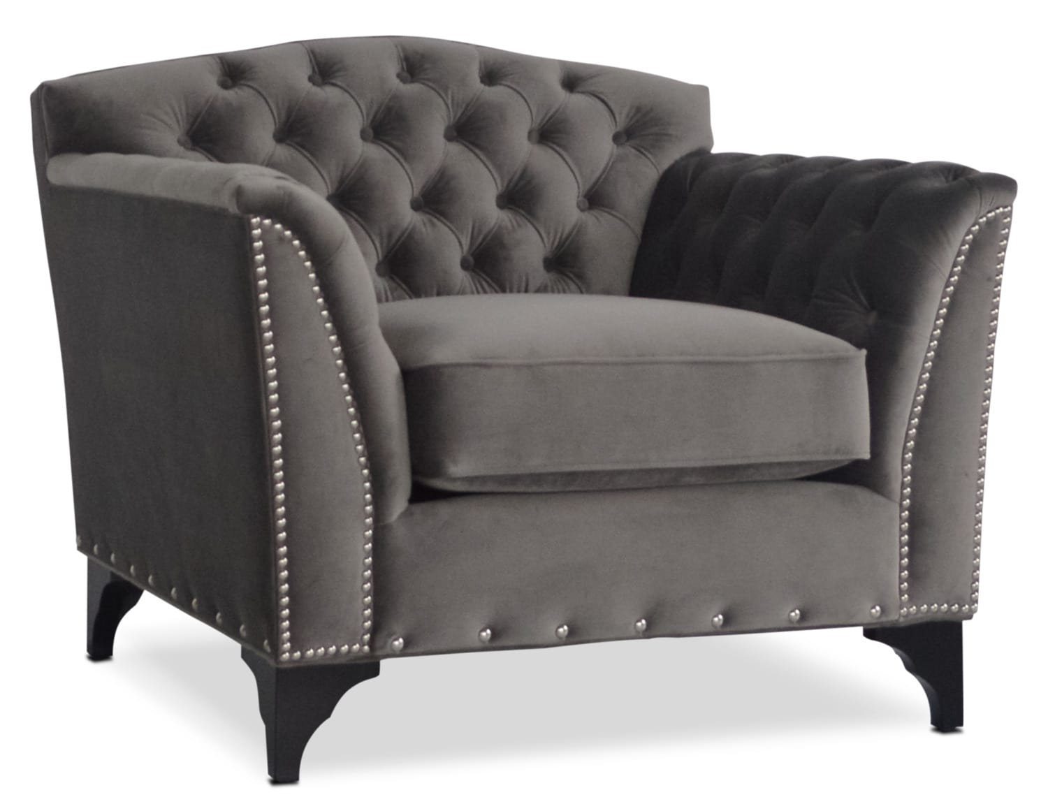 Accent and Occasional Furniture - Priscilla Accent Chair - Gray