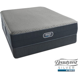 Siesta Key Plush Queen Mattress and Low-Profile Foundation Set