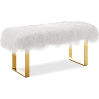 Luna Bench - White