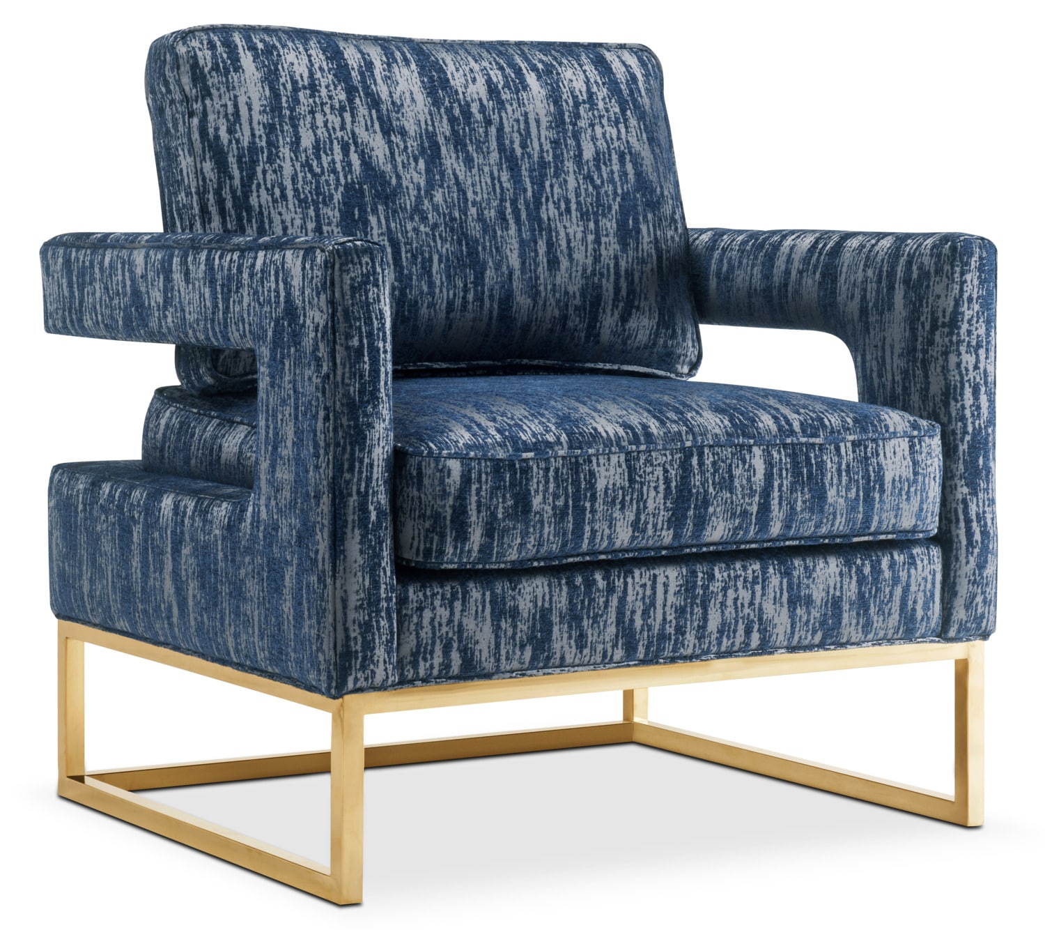 Living Room Furniture - Levana Accent Chair - Blue