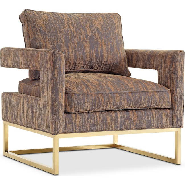 Accent and Occasional Furniture - Levana Accent Chair - Gold