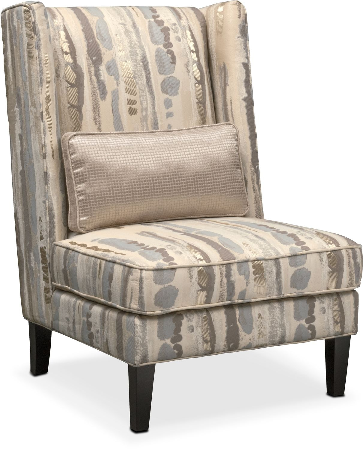 Living Room Furniture - Limelight Accent Chair- Platinum