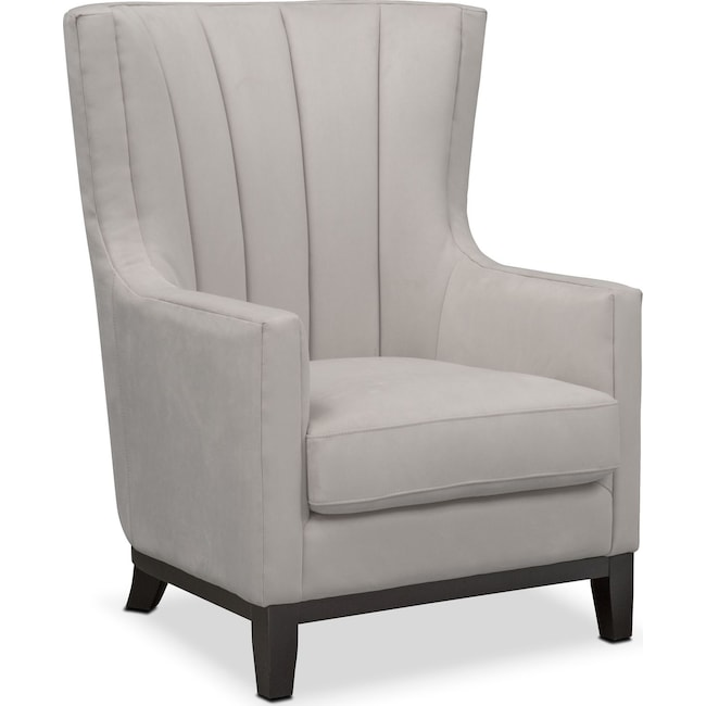 Accent and Occasional Furniture - Brianna Accent Chair - Light Gray