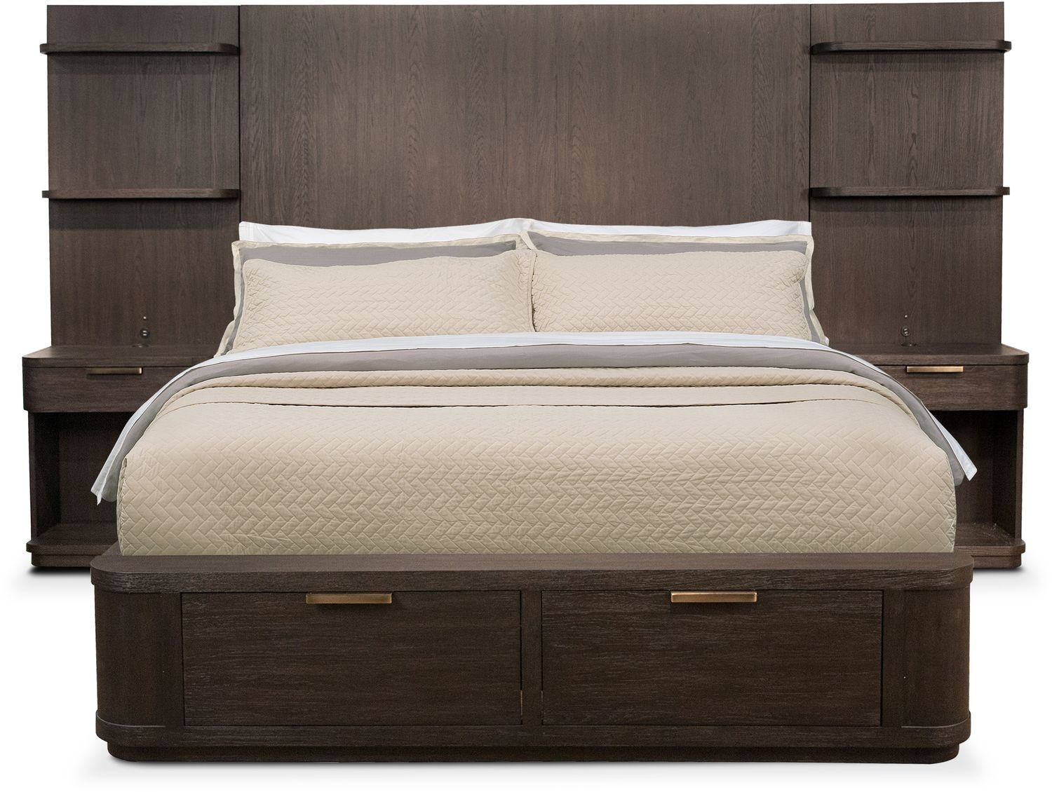 Zoom Room Bed Reviews Malibu Queen Tall Storage Wall Bed Umber American Signature