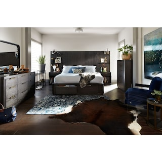 The Malibu Tall Storage Bedroom Collection - Umber