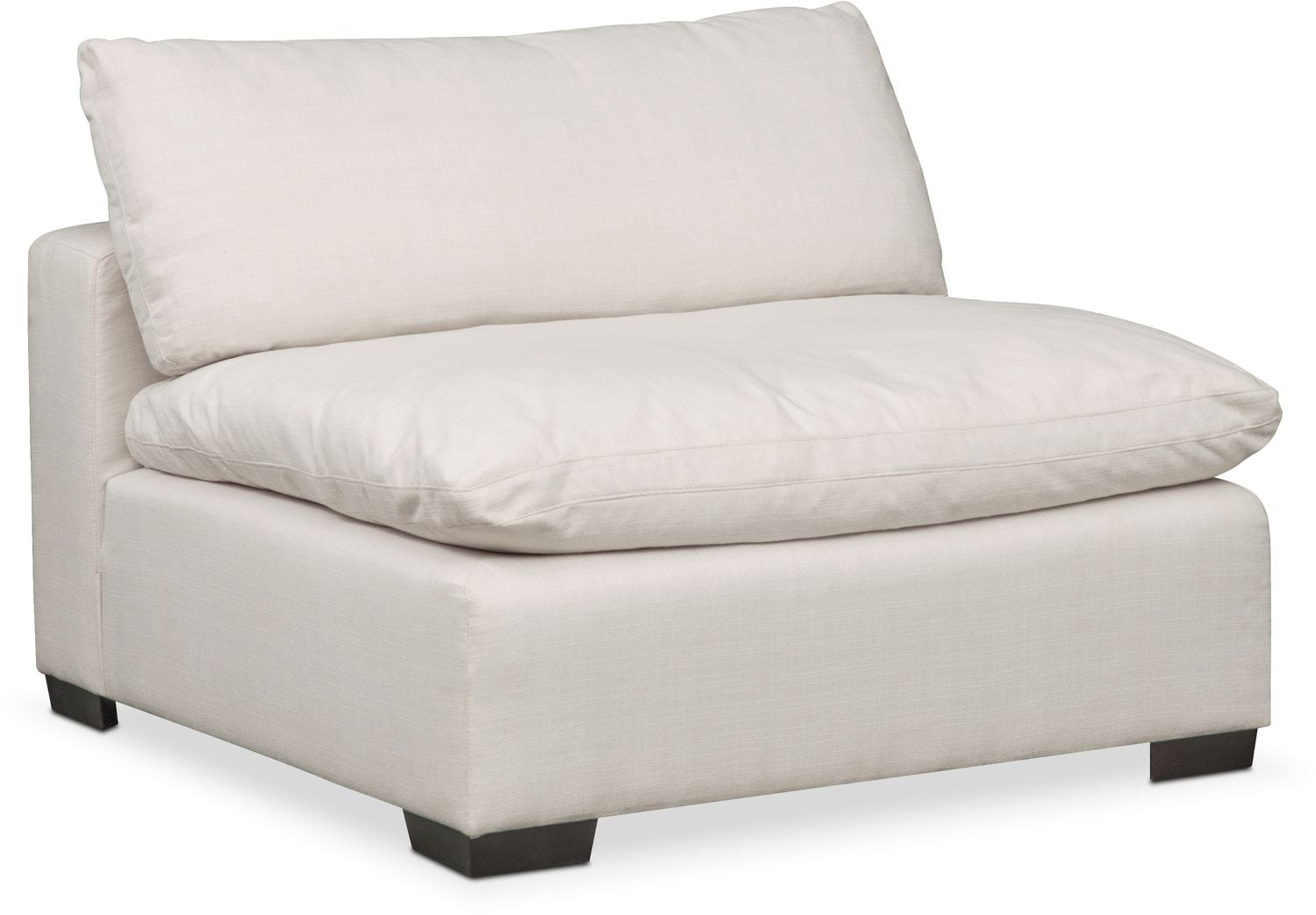 Plush 4 Piece Sectional And Ottoman Anders Ivory