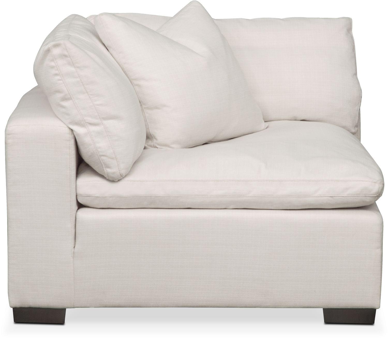 Plush Corner Chair - Ivory