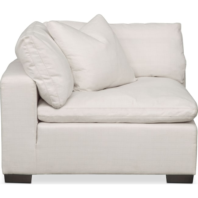Living Room Furniture - Plush Corner Chair - Ivory
