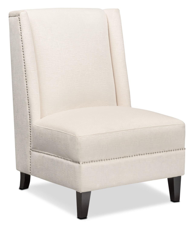 Roberto accent chair white american signature furniture for White accent chairs living room furniture