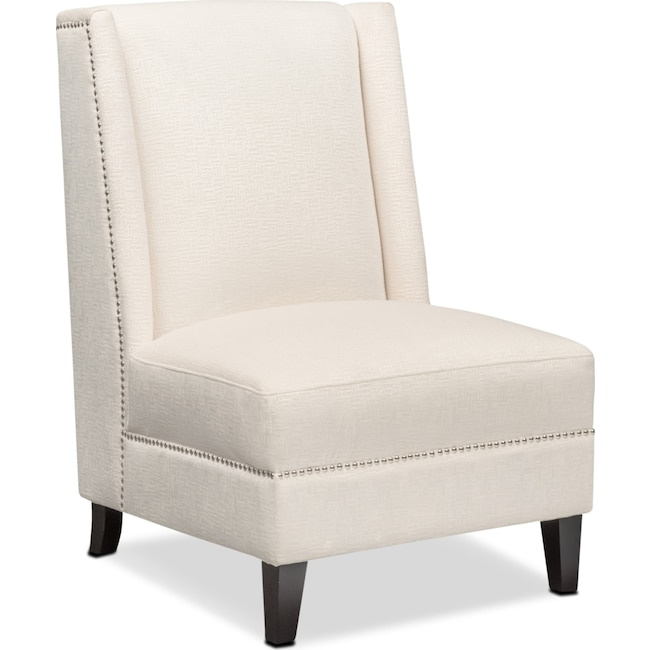 Living Room Furniture - Roberto Accent Chair - White