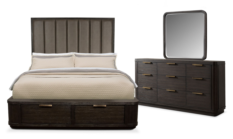 Upholstered bedroom sets chantelle upholstered bed in for Anthony baratta luna upholstered bed