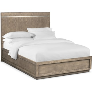 Gavin Queen Bed - Graystone