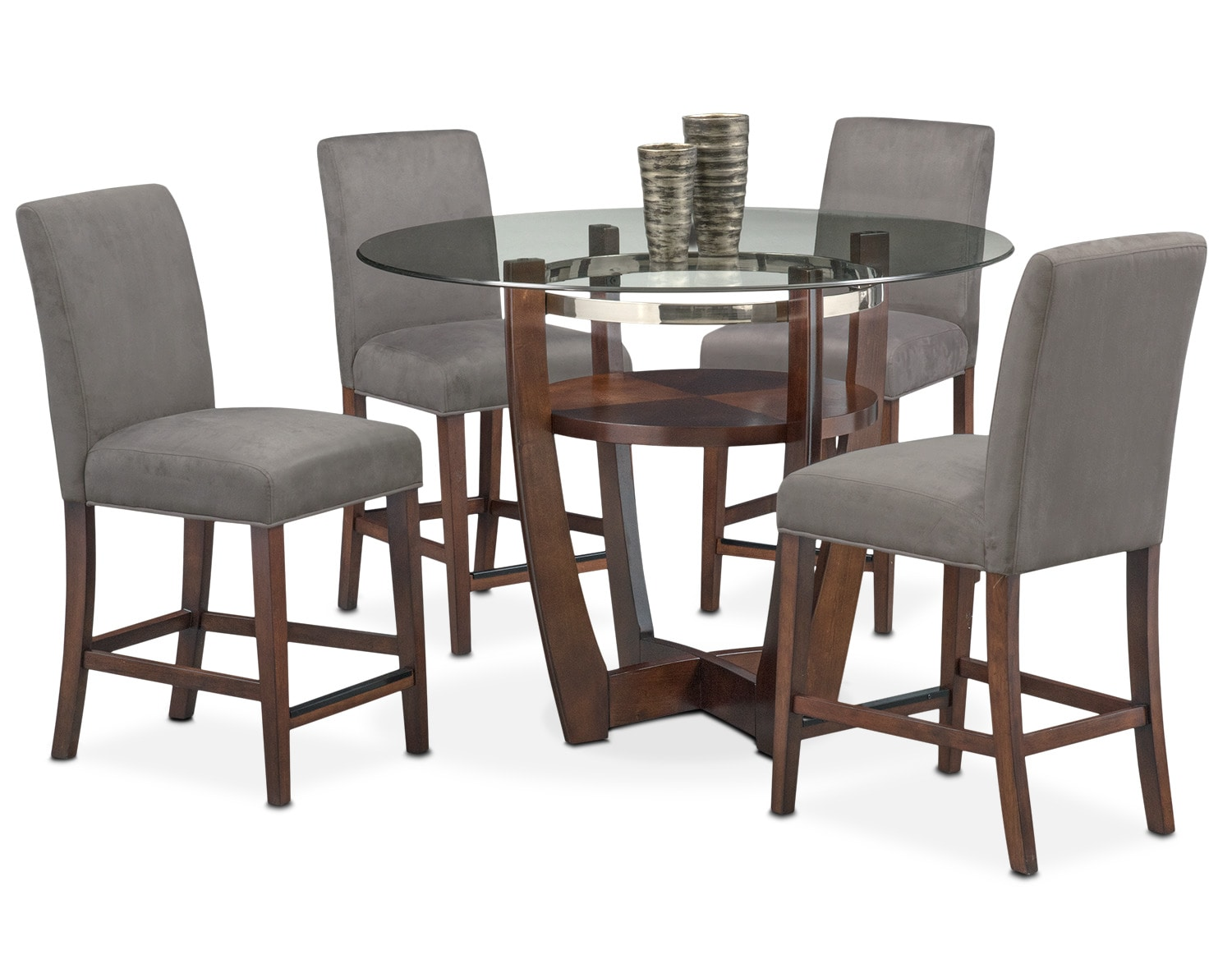 The Alcove Counter-Height Collection - Gray and Merlot