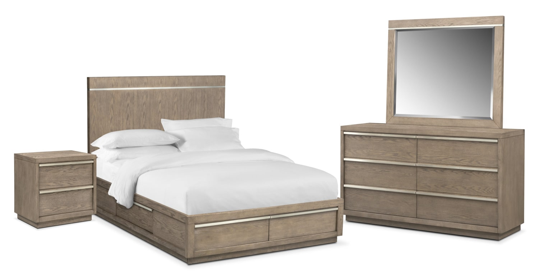 Gavin 6-Piece King Storage Bedroom Set - Graystone