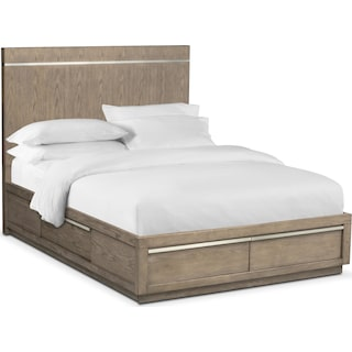 Gavin King Storage Bed - Graystone