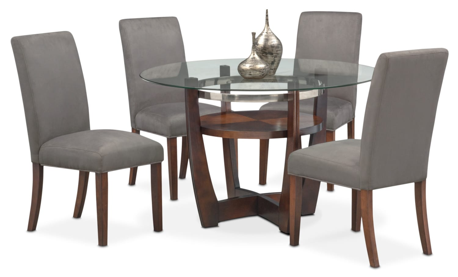 Alcove Table And 4 Side Chairs   Gray