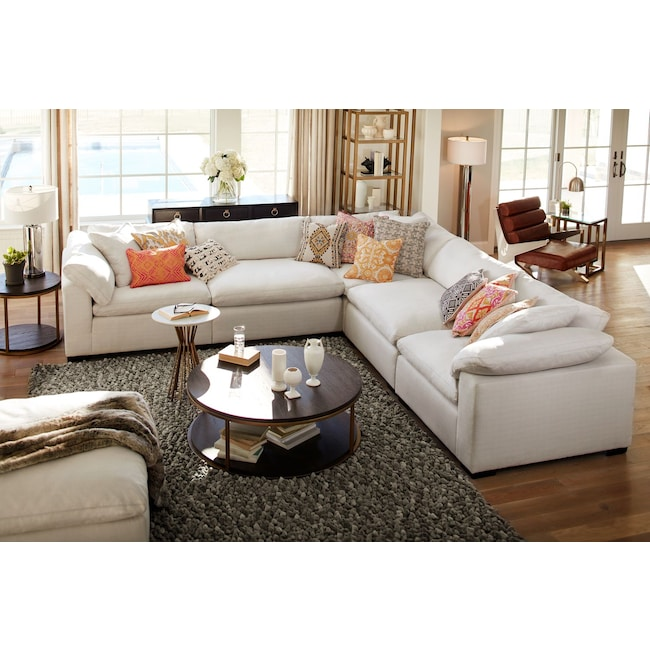 Plush 5 Piece Sectional American
