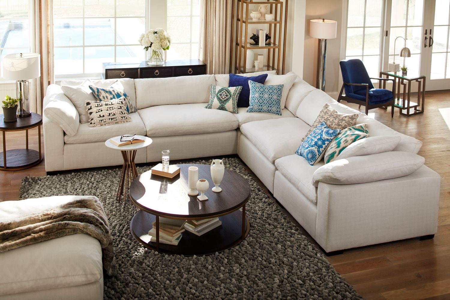The Plush Sectional Collection Anders Ivory American Signature Furniture