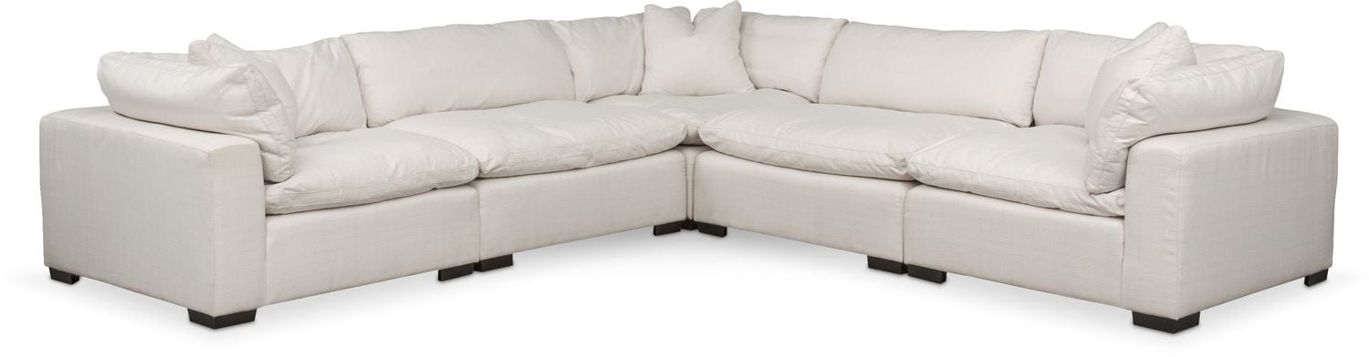 Plush 5 Piece Sectional   Anders Ivory Part 89