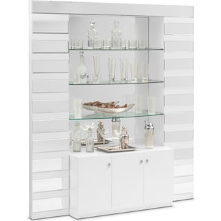 Spectra Wall Bar - White and Mirror