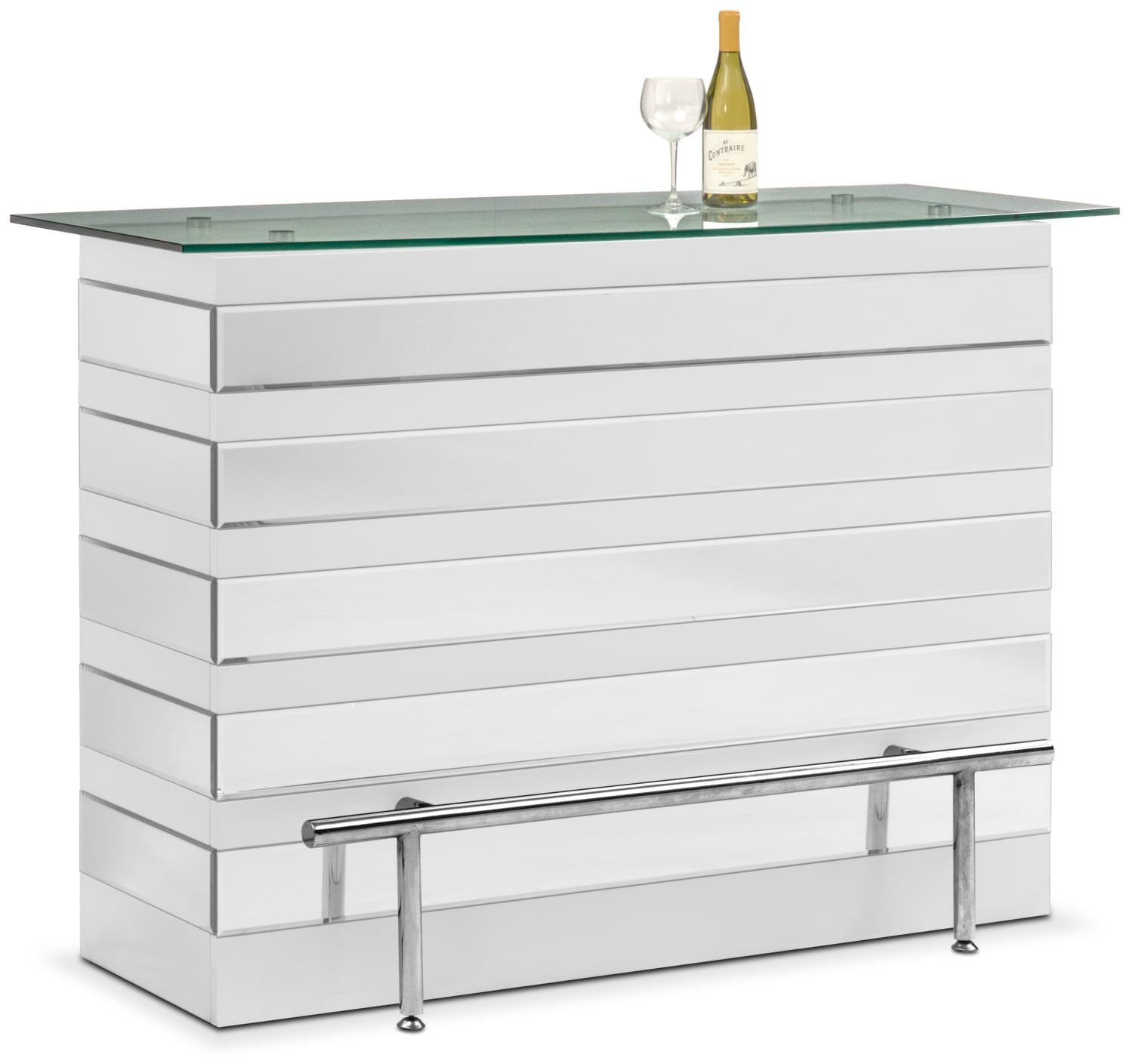 Was $999.99 Today $899.99 Spectra Bar   White And Mirror