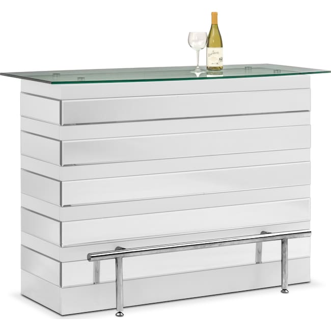 Dining Room Furniture - Spectra Bar - White and Mirror