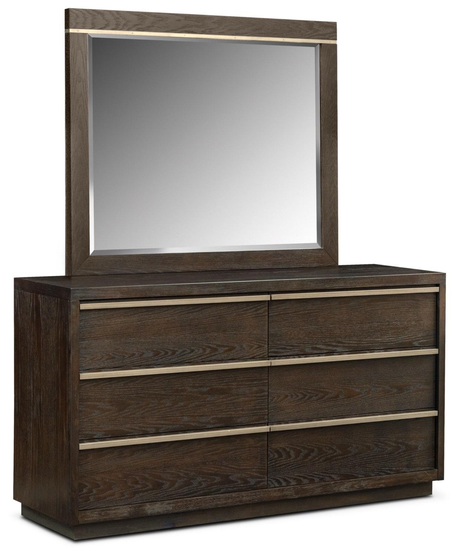 Gavin 5-Piece Queen Bedroom Set - Brownstone | American Signature ...