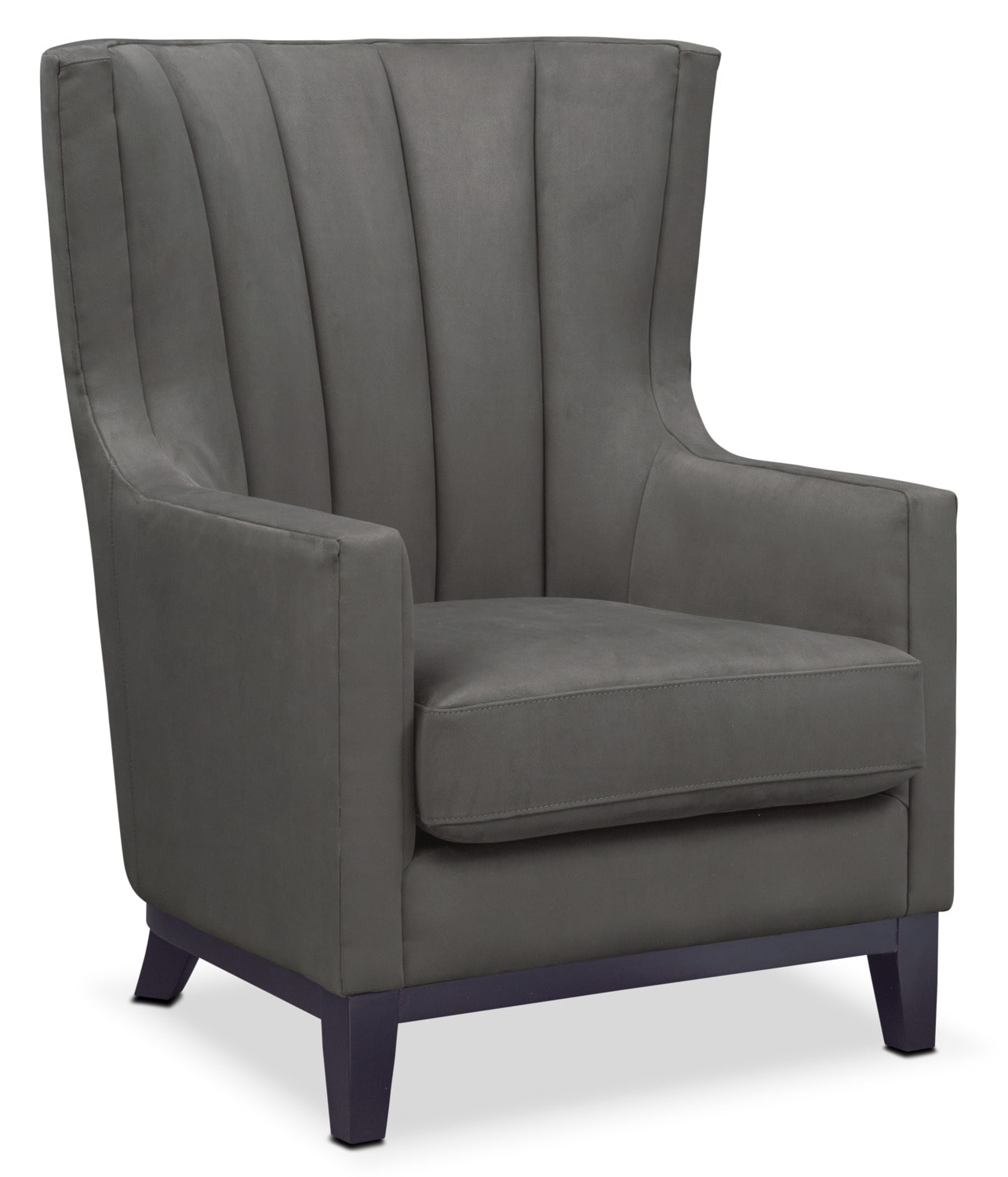 Accent Furniture For Living Room: Brianna Accent Chair - Dark Gray