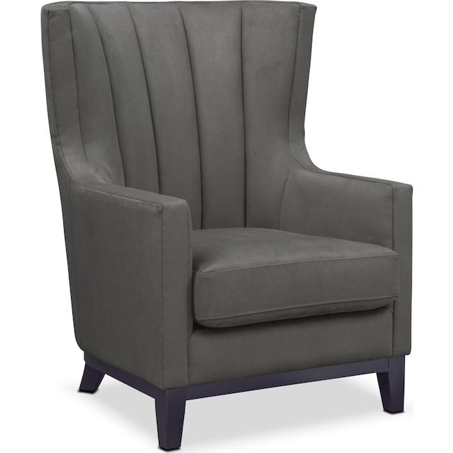 Accent and Occasional Furniture - Brianna Accent Chair - Dark Gray