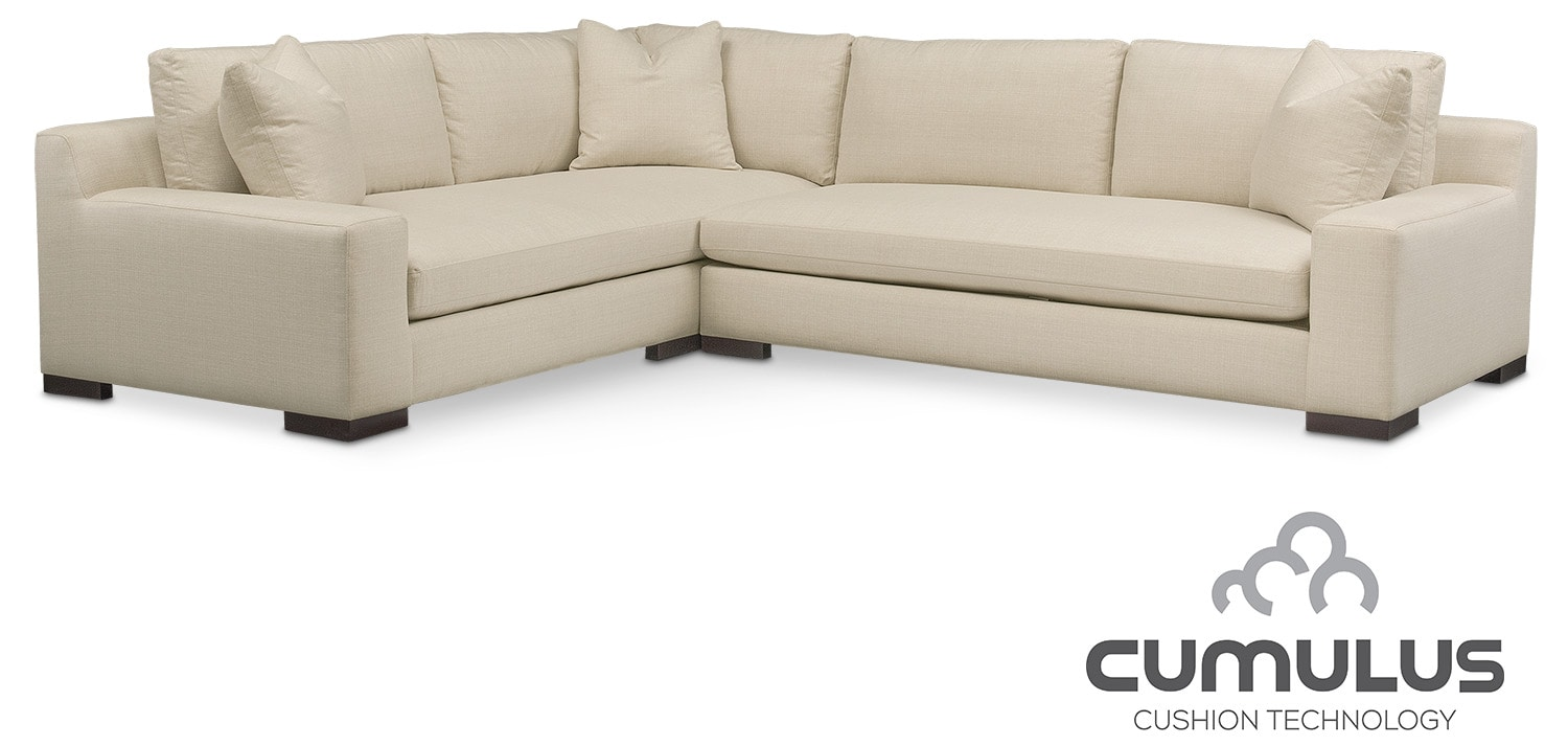 Ethan Cumulus 2 Piece Sectional With Right Facing Sofa   Anders Cloud Amazing Ideas