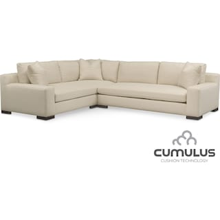 Ethan Cumulus 2-Piece Sectional with Right-Facing Sofa - Anders Cloud