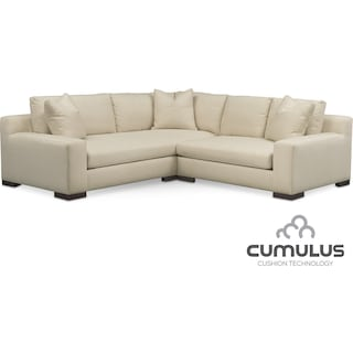 Ethan Cumulus 2-Piece Sectional with Right-Facing Loveseat - Anders Cloud