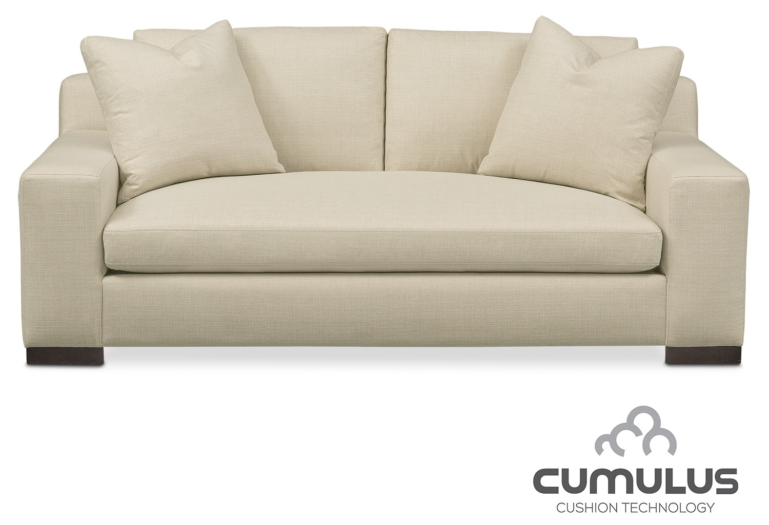 Living Room Furniture - Ethan Cumulus Apartment Sofa - Cream