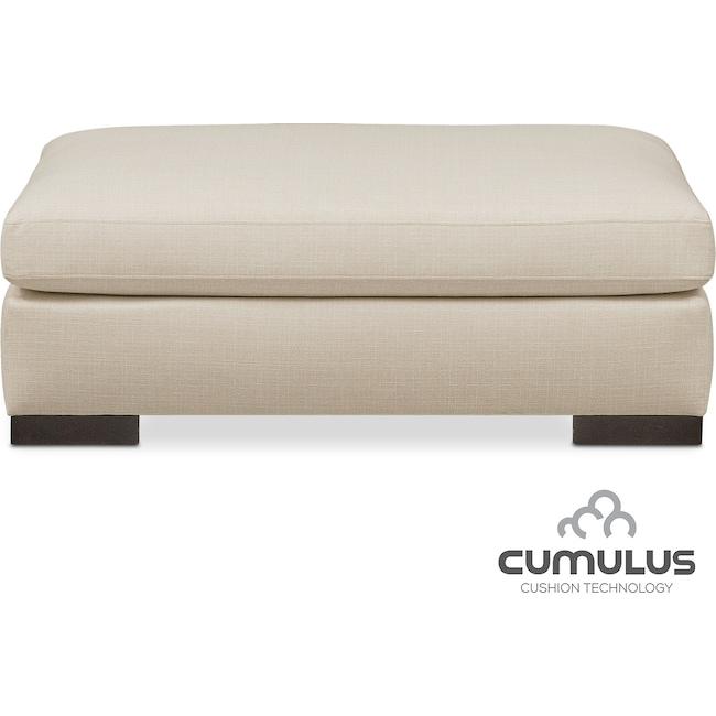 Living Room Furniture - Ethan Cumulus Ottoman - Anders Cloud