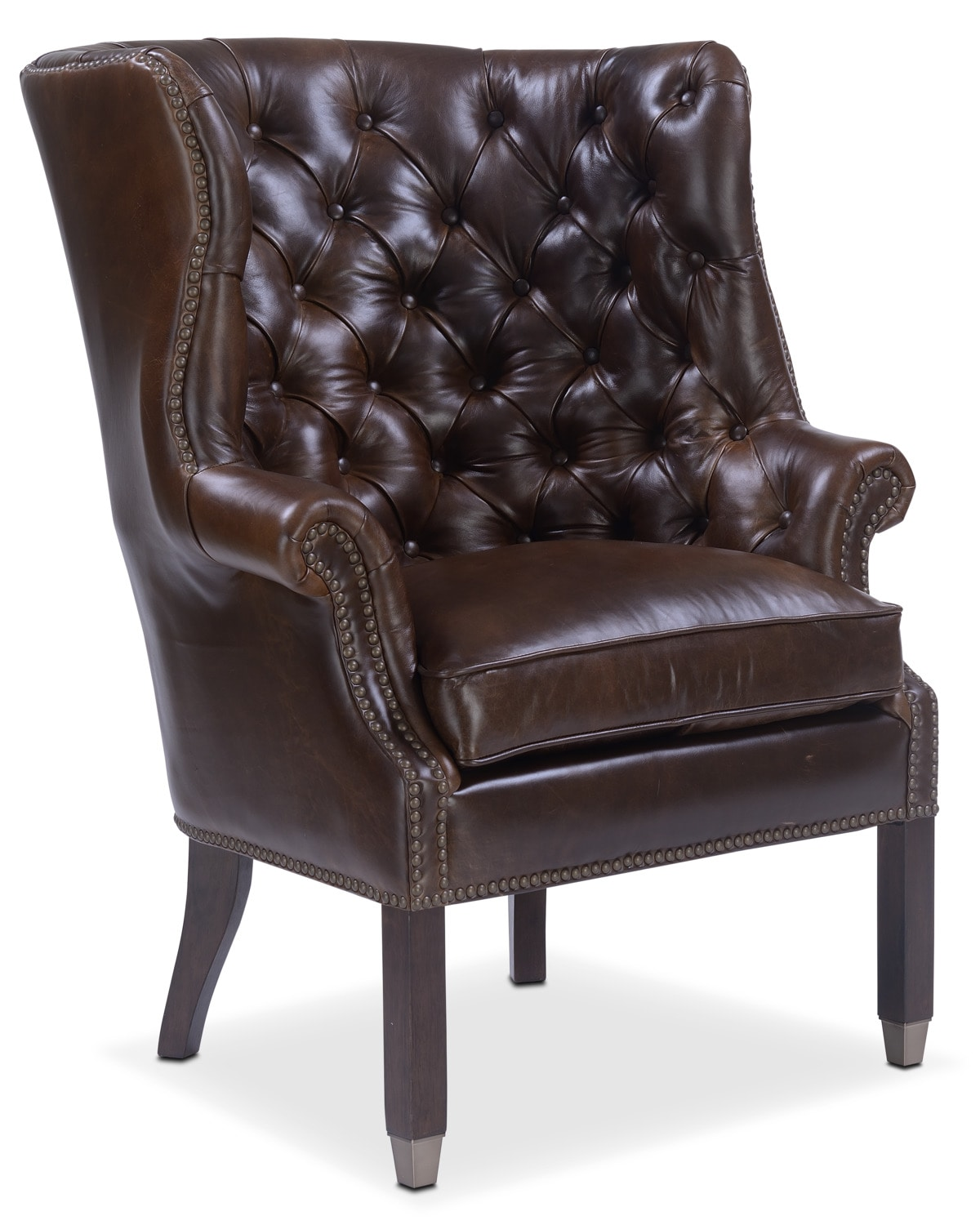 Living Room Furniture - Cranston Accent Chair - Brown