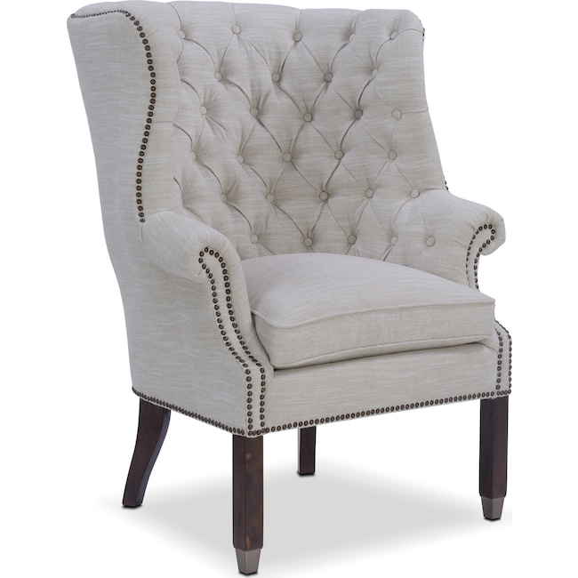 Living Room Furniture - Cranston Accent Chair - Ivory