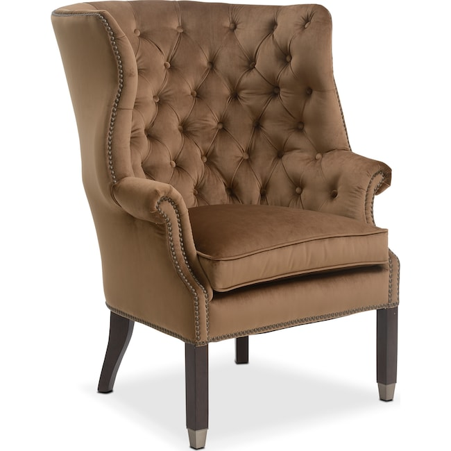 Living Room Furniture - Cranston Accent Chair - Sable