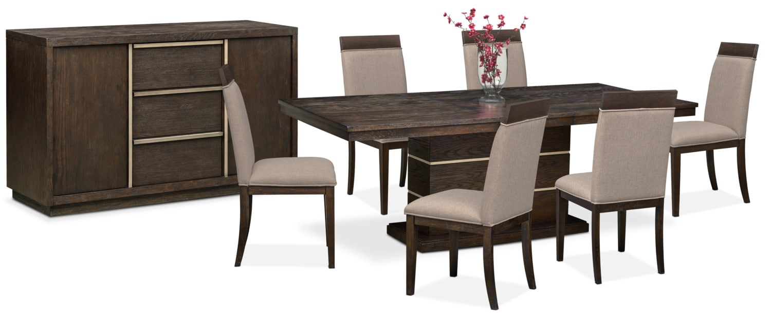 The Gavin Dining Collection - Brownstone