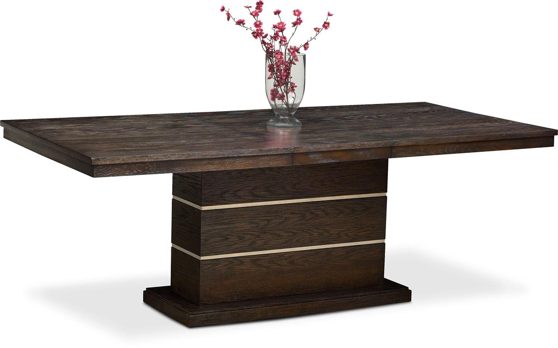 Dining Room Furniture - Gavin Pedestal Table - Brownstone