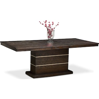 Gavin Pedestal Table - Brownstone