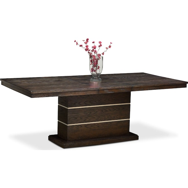 Dining Room Furniture - Gavin Pedestal Table - Brownstone