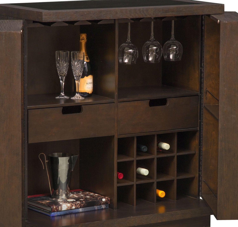Gavin Wine Cabinet Brownstone American Signature Furniture